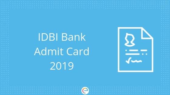 IDBI Admit Card