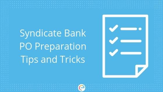 Syndicate Bank PO preparation-Embibe