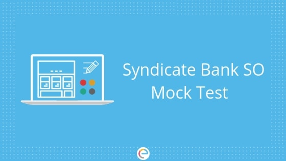 Syndicate Bank SO Mock Test