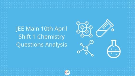 JEE Main 2019 April 10 Shift 1 Chemistry Analysis