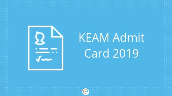 KEAM Admit card embibe