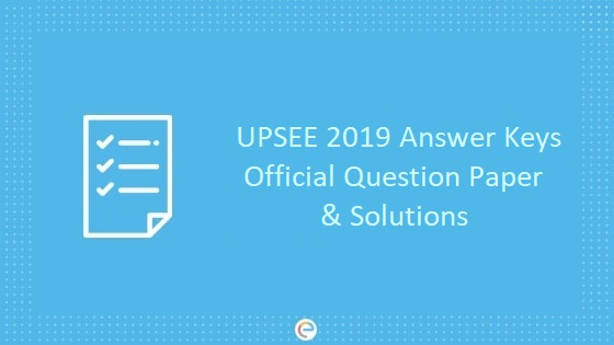 UPSEE Answer Key Official Question Paper