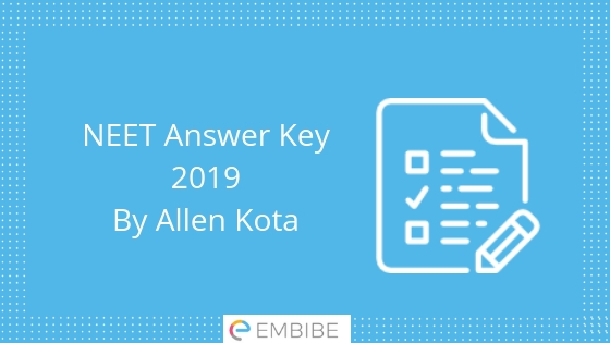 NEET Answer Key By Allen Kota