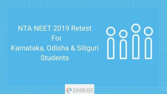 NTA NEET 2019 Retest for 3 States
