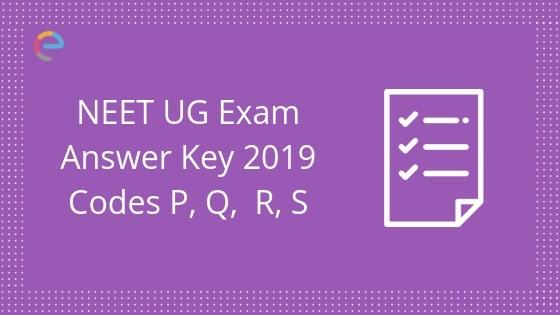 NEET Answer Key Code P1/Q2/R3/S4