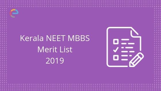 NEET MBBS Kerala Rank List 2019