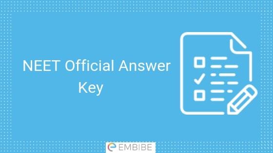 NEET Official Answer Key
