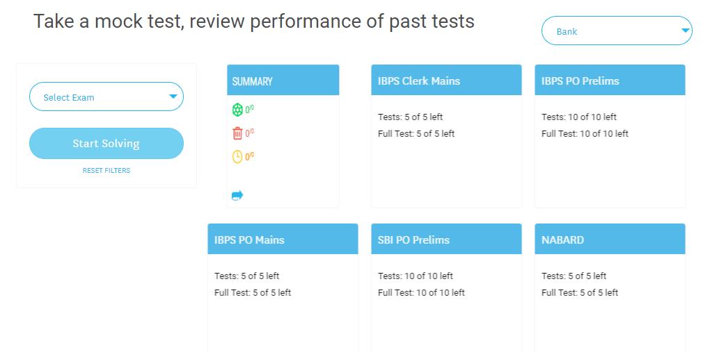 SBI PO Mock Test- Embibe
