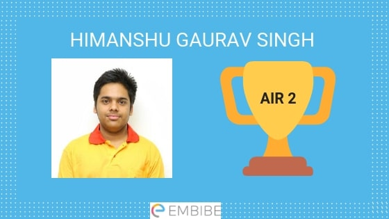 JEE Advanced Topper 2019 Himanshu Gaurav Singh AIR 2