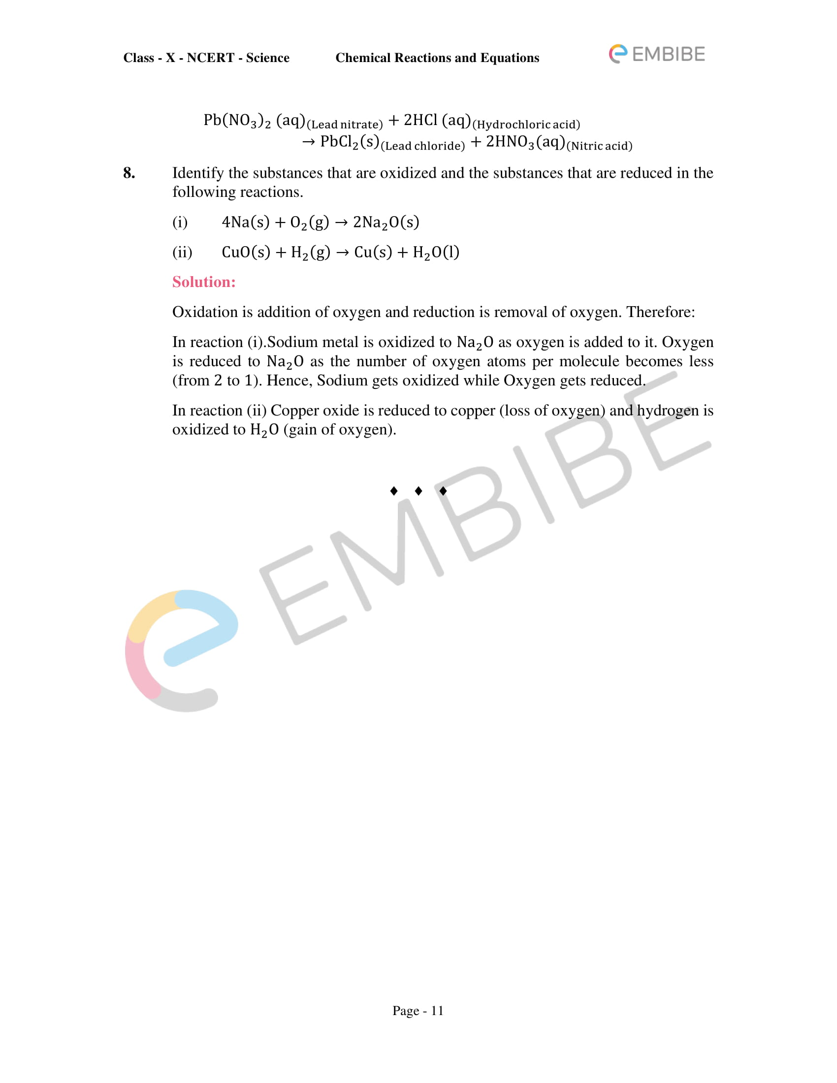CBSE NCERT Solutions for Class 10 Science Chapter 1: Chemical Reactions And Equations-11