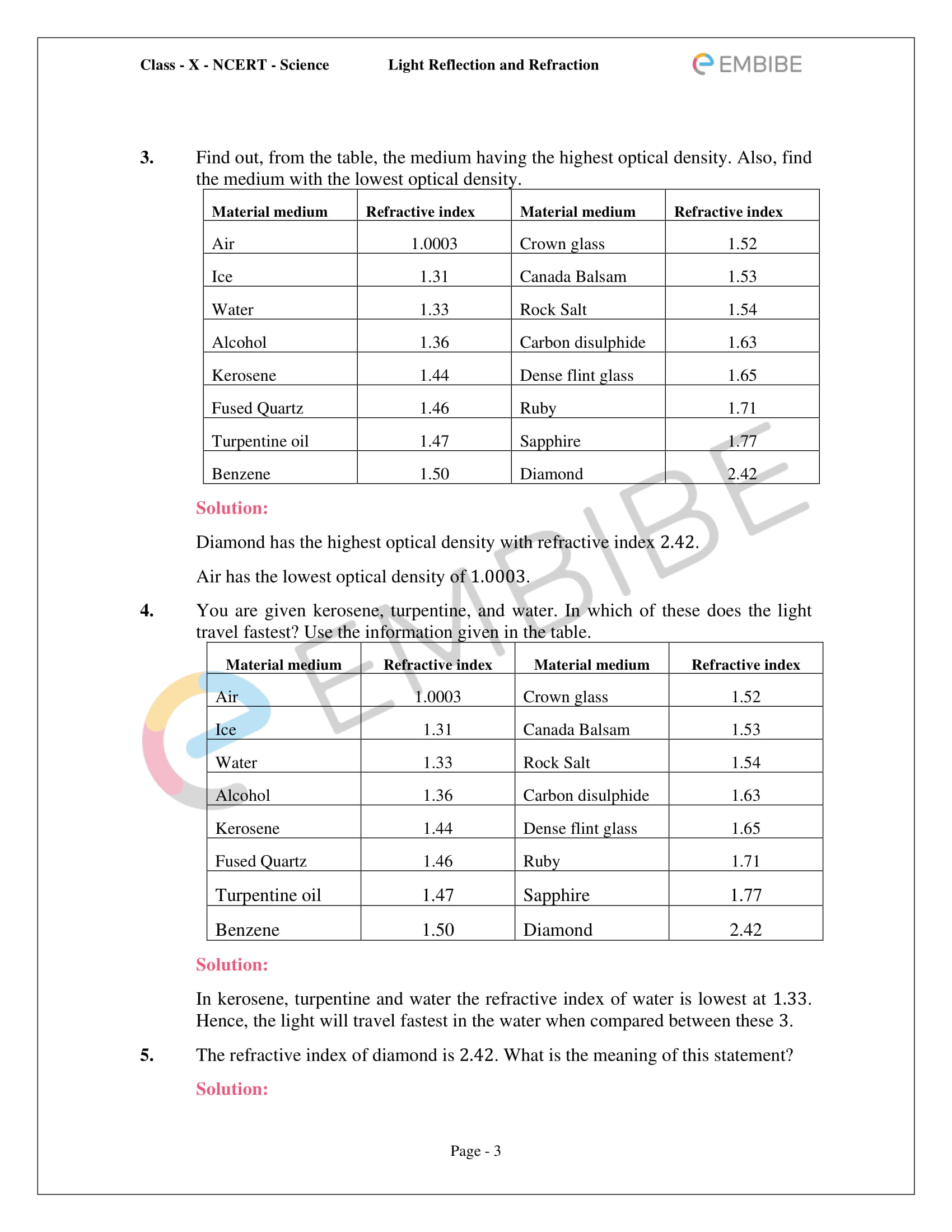 CBSE NCERT Solutions For Class 10 Science Chapter 10 - Light Reflection and Refraction - 3