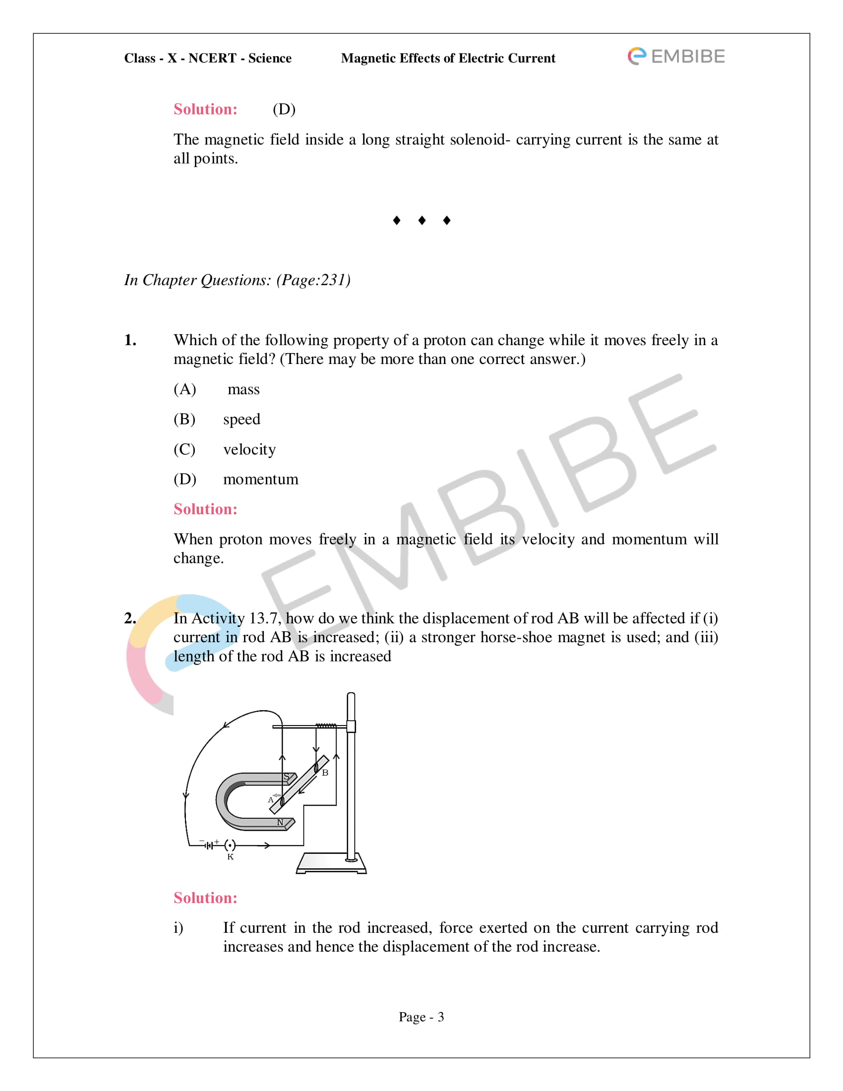 CBSE NCERT Solutions For Class 10 Science Chapter 13 - Magnetic Effects of Electric Current - 3