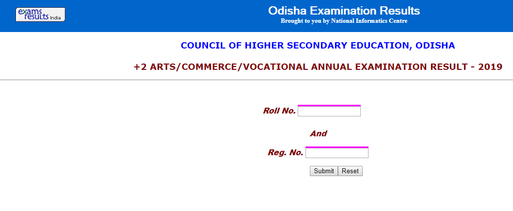 Odisha +2 arts result