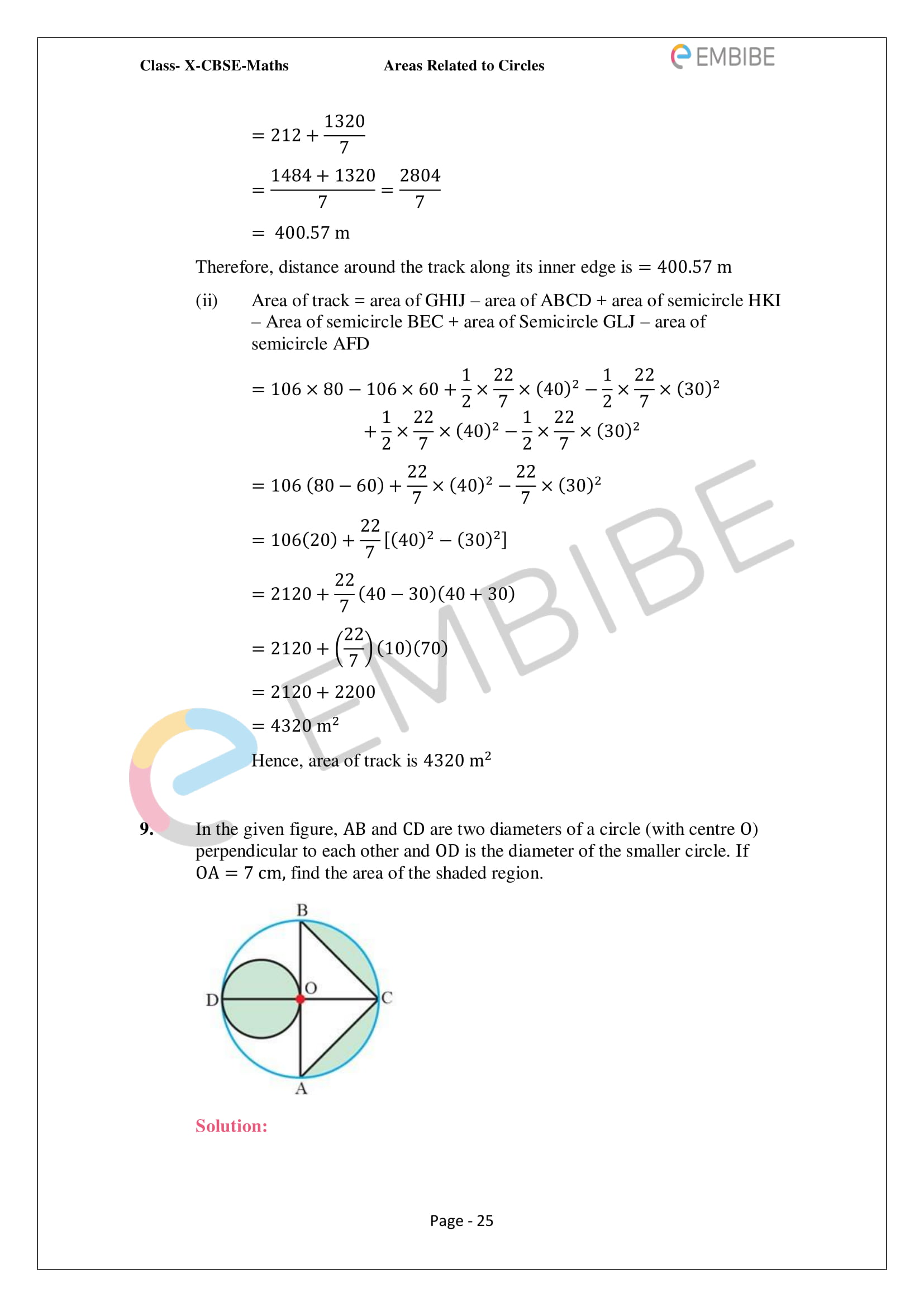 CBSE NCERT Solutions For Class 10 Maths Chapter 12 - Areas Related To Circle - 25