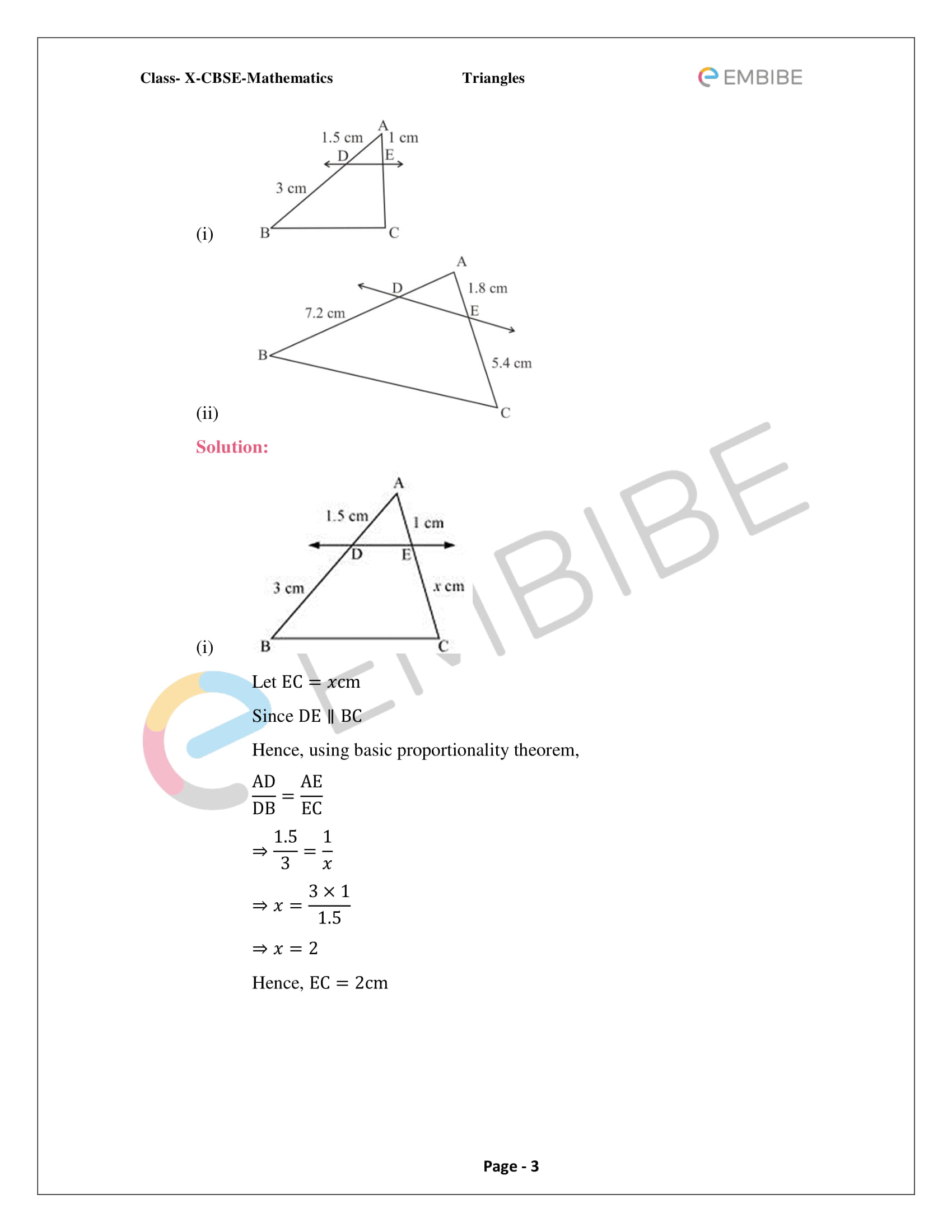 NCERT Solutions For Class 10 Maths Chapter 6: Triangles (PDF