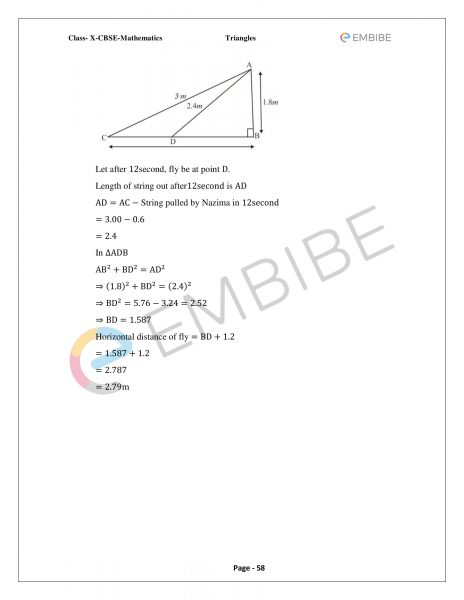 CBSE NCERT Solutions For Class 10 Maths Chapter 6 – Triangles