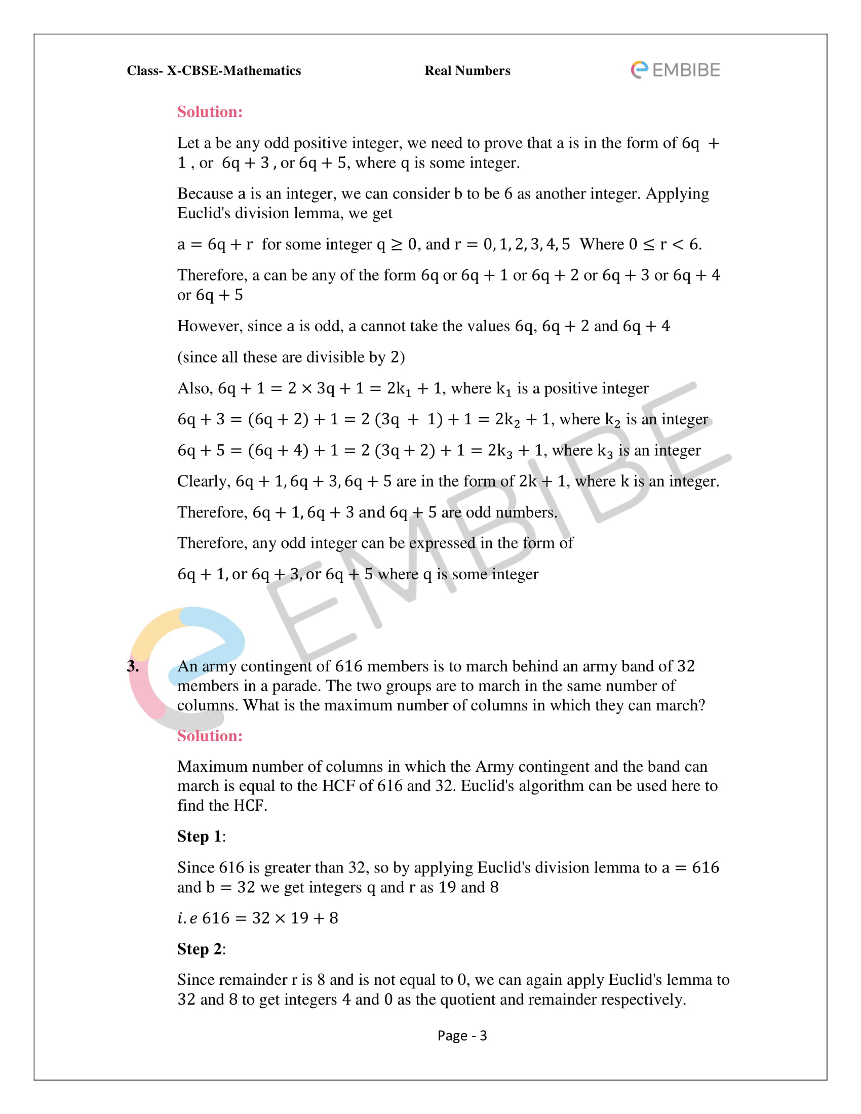 CBSE NCERT Solutions For Class 10 Maths Chapter 1 - Real Numbers - 3