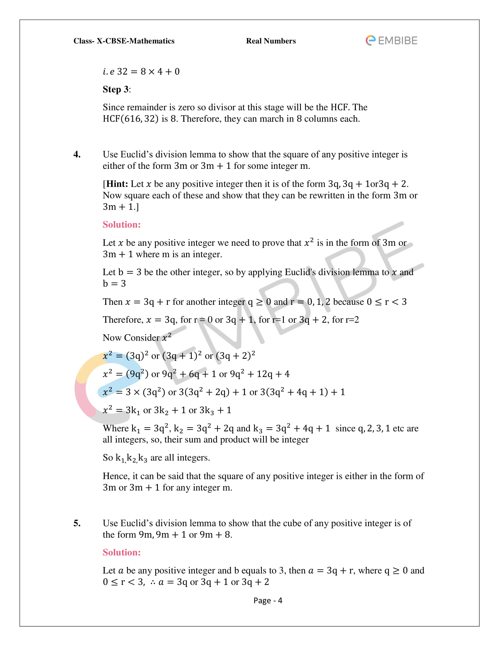 CBSE NCERT Solutions For Class 10 Maths Chapter 1 - Real Numbers - 4