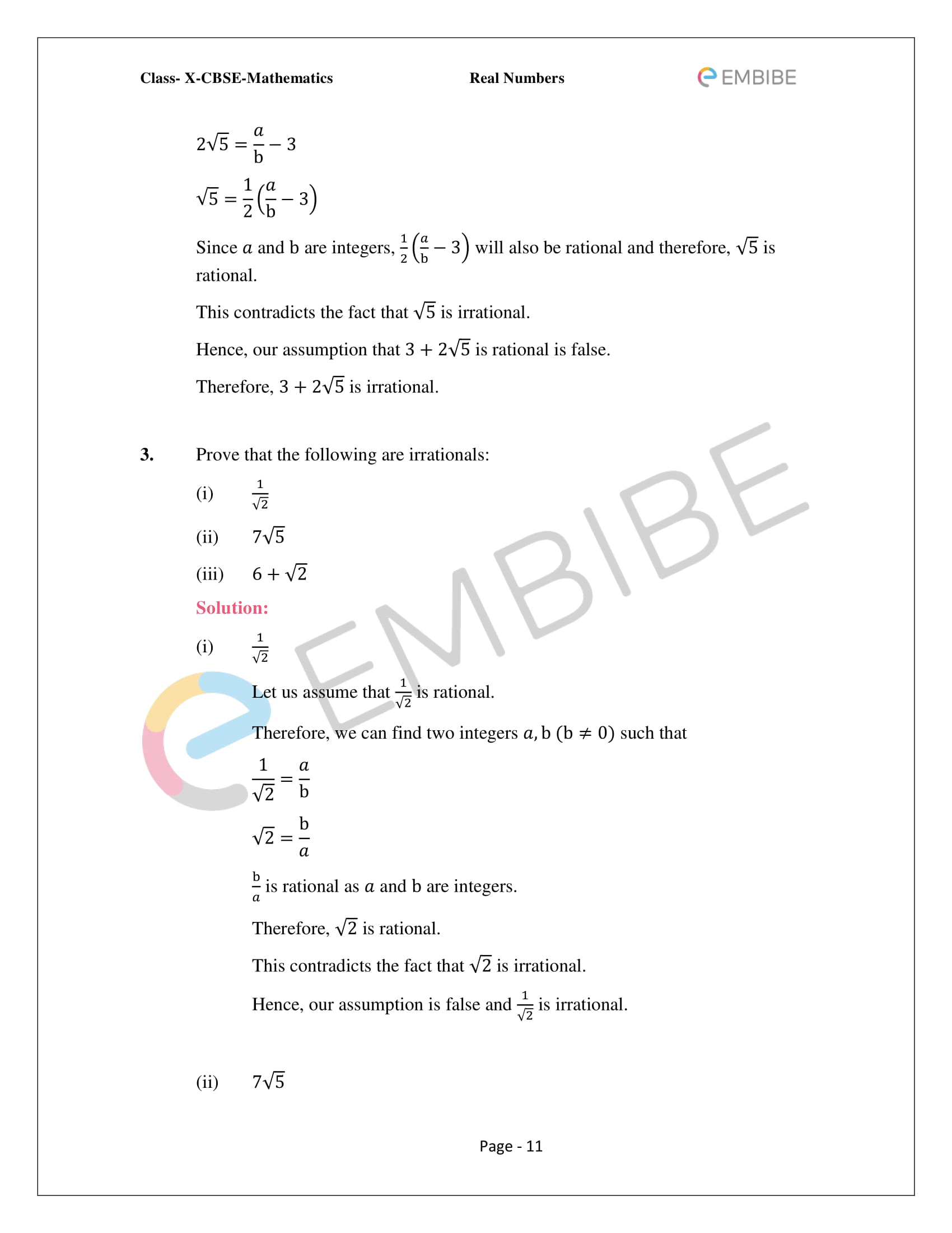 CBSE NCERT Solutions For Class 10 Maths Chapter 1 - Real Numbers - 11