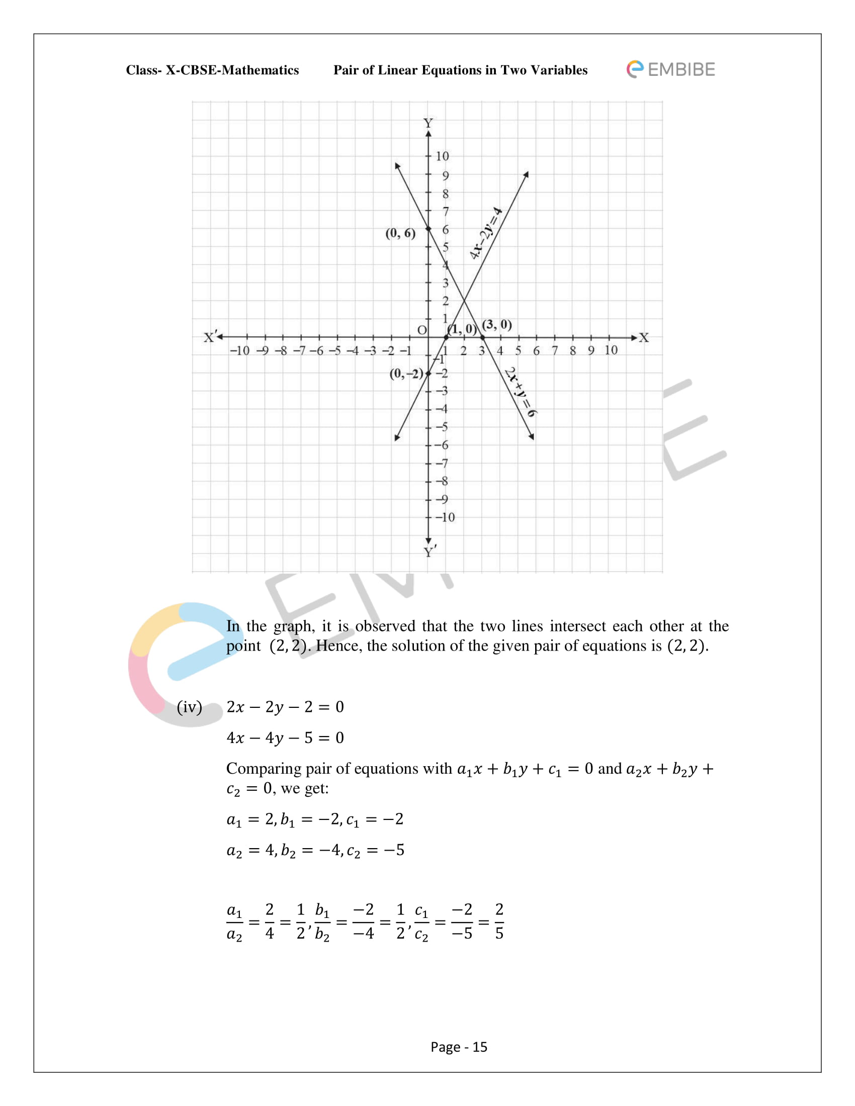 CBSE NCERT Solutions For Class 10 Maths Chapter 3 - Pair of Linear Equations In Two Variables - 15