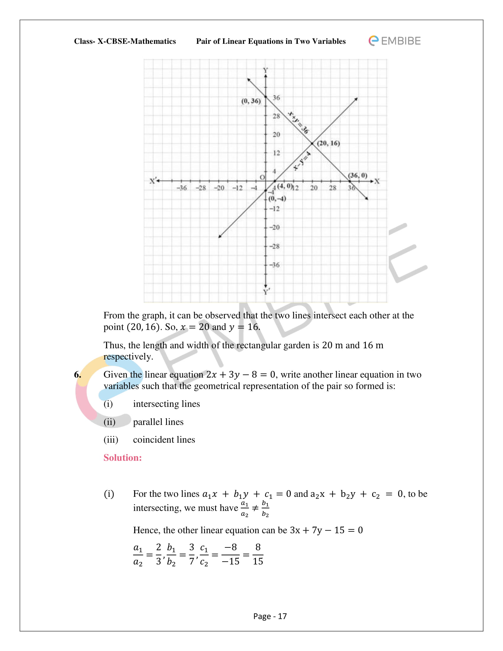 CBSE NCERT Solutions For Class 10 Maths Chapter 3 - Pair of Linear Equations In Two Variables - 17