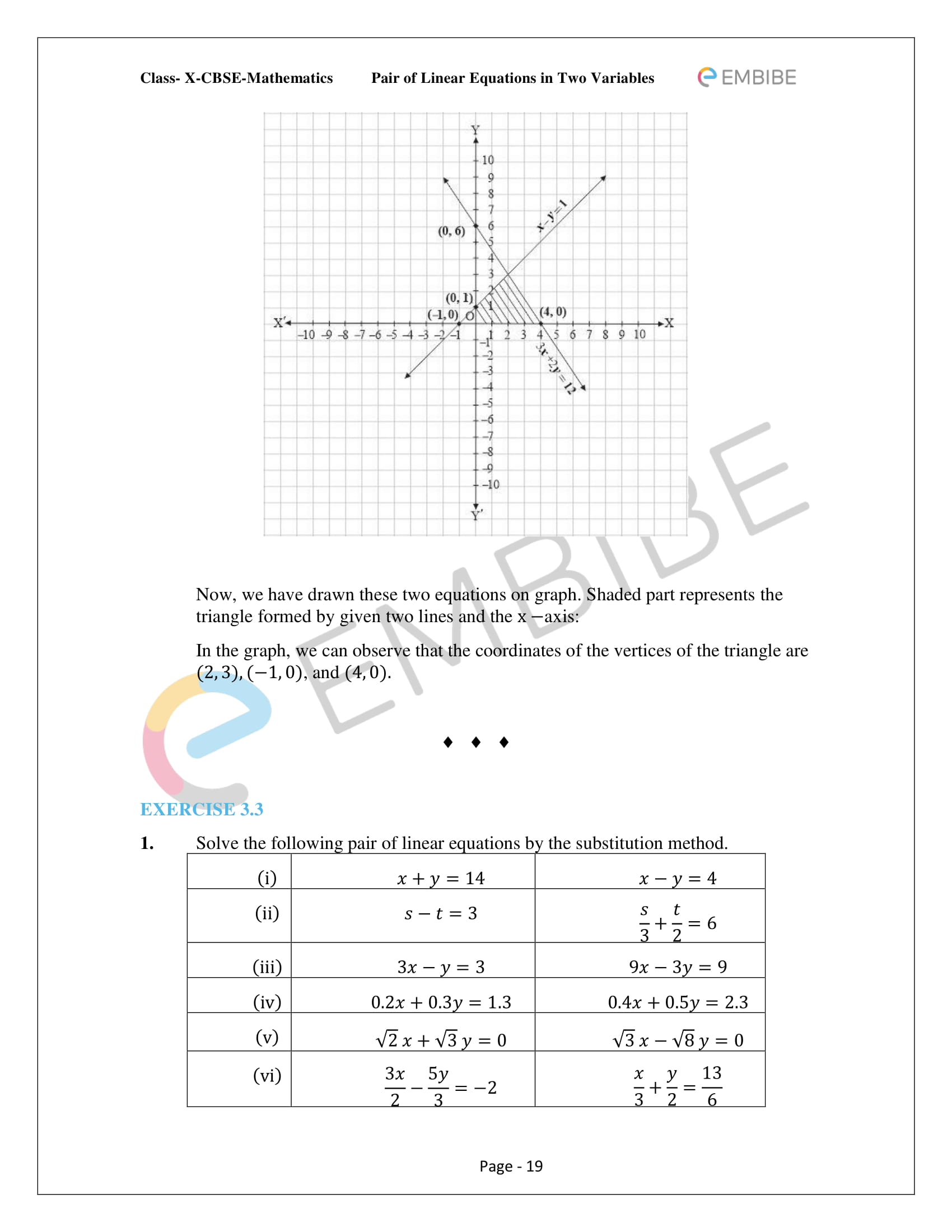 CBSE NCERT Solutions For Class 10 Maths Chapter 3 - Pair of Linear Equations In Two Variables - 19