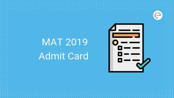 MAT Admit Card 2019-Embibe