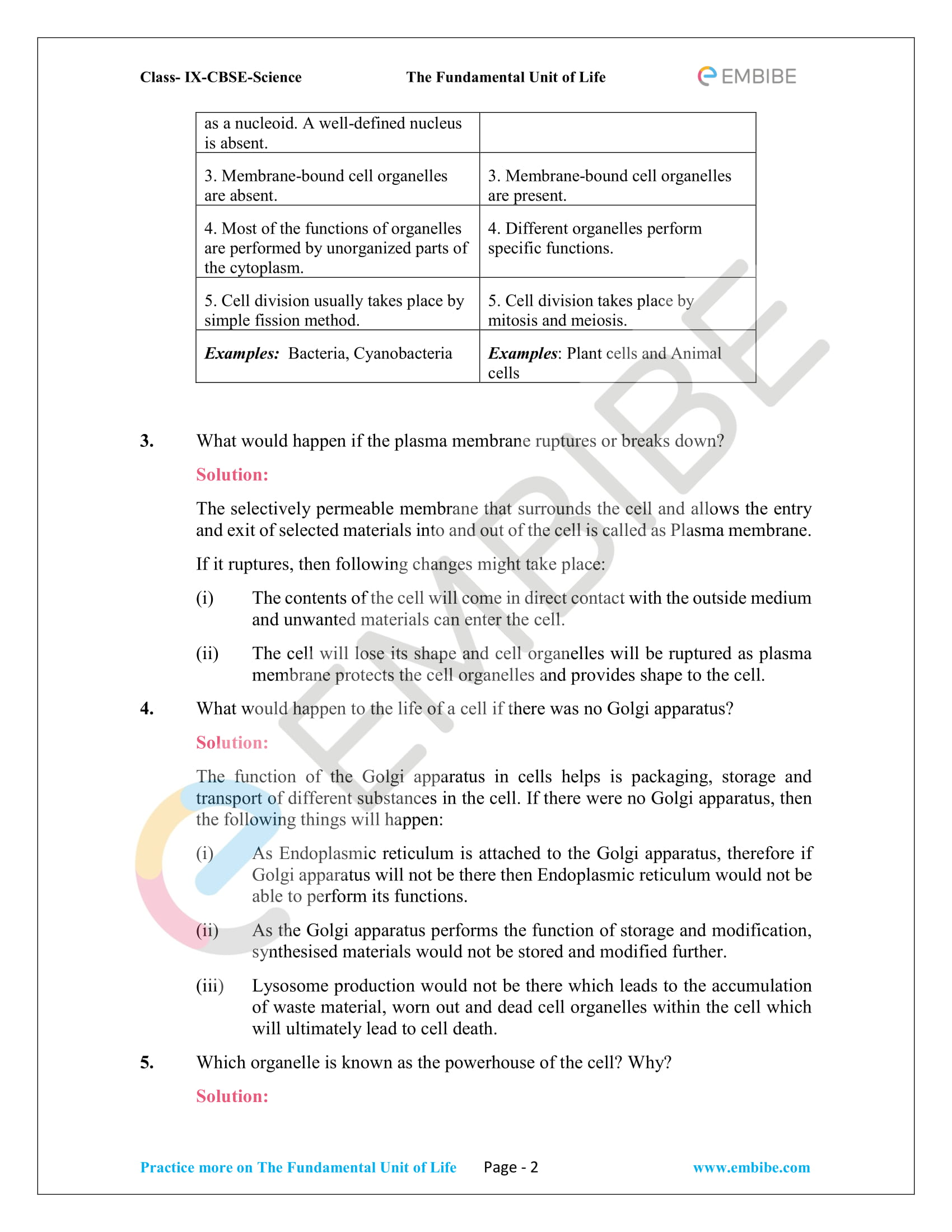 CBSE NCERT Solutions For Class 9 Science Chapter 5: The