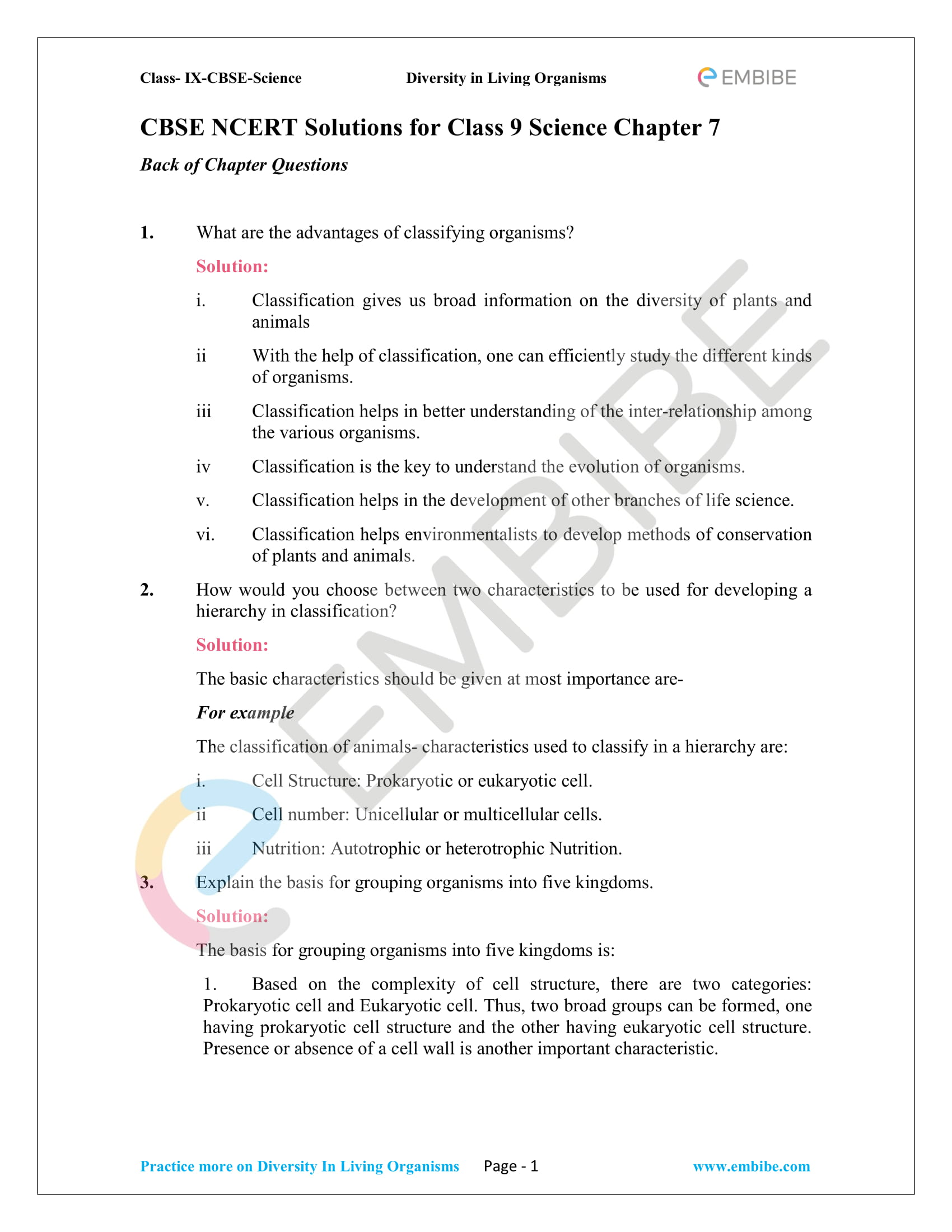 CBSE NCERT Solutions For Class 9 Science Chapter 7 ...