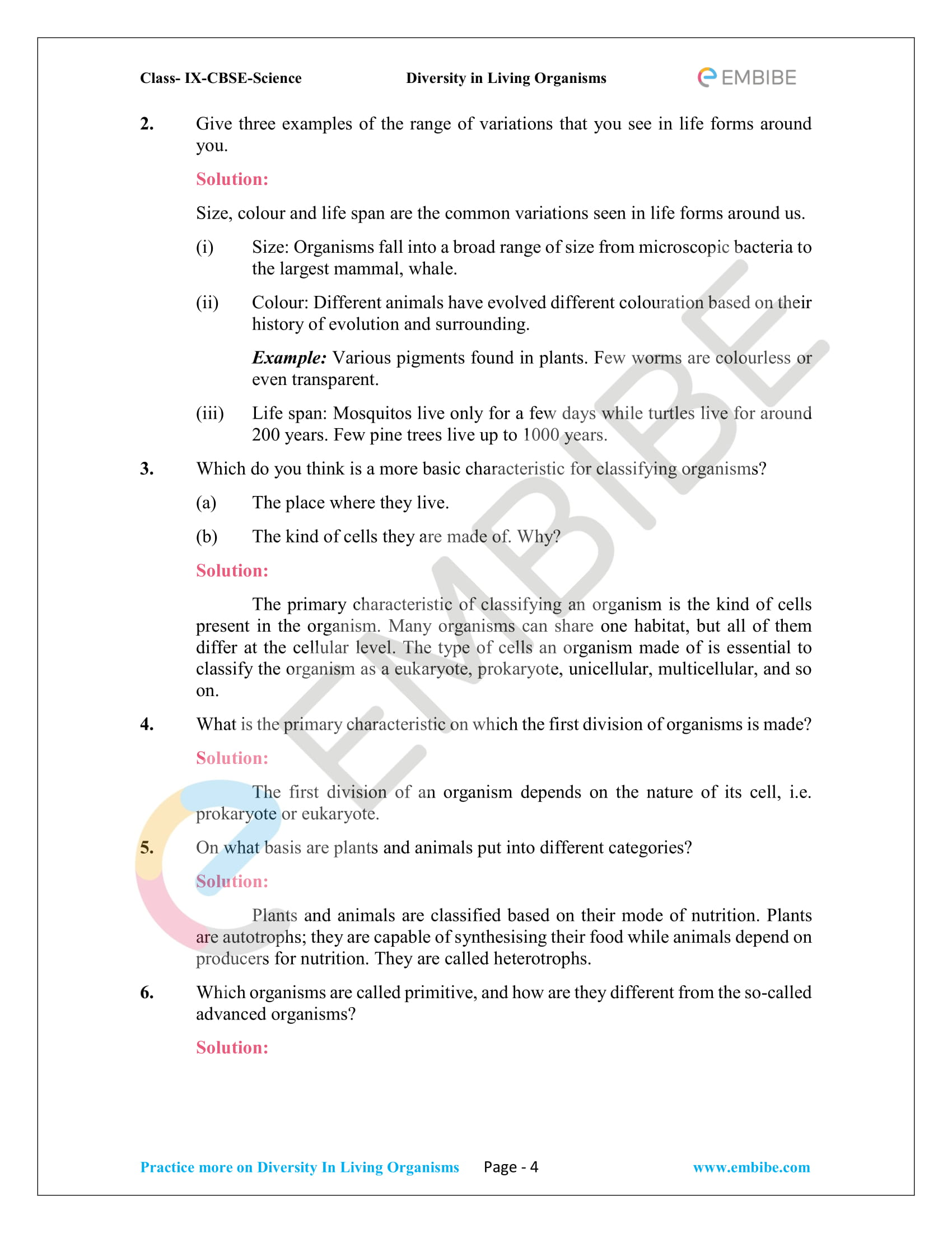 CBSE NCERT Solutions For Class 9 Science Chapter 7
