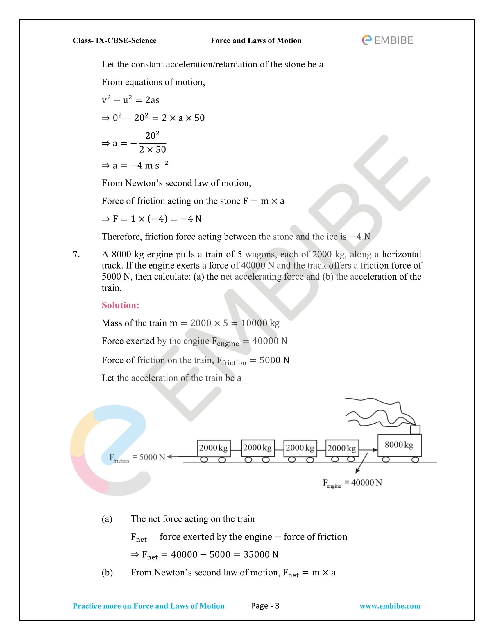 CBSE NCERT Solutions For Class 9 Science Chapter 9 – Force And Laws Of Motion - 3