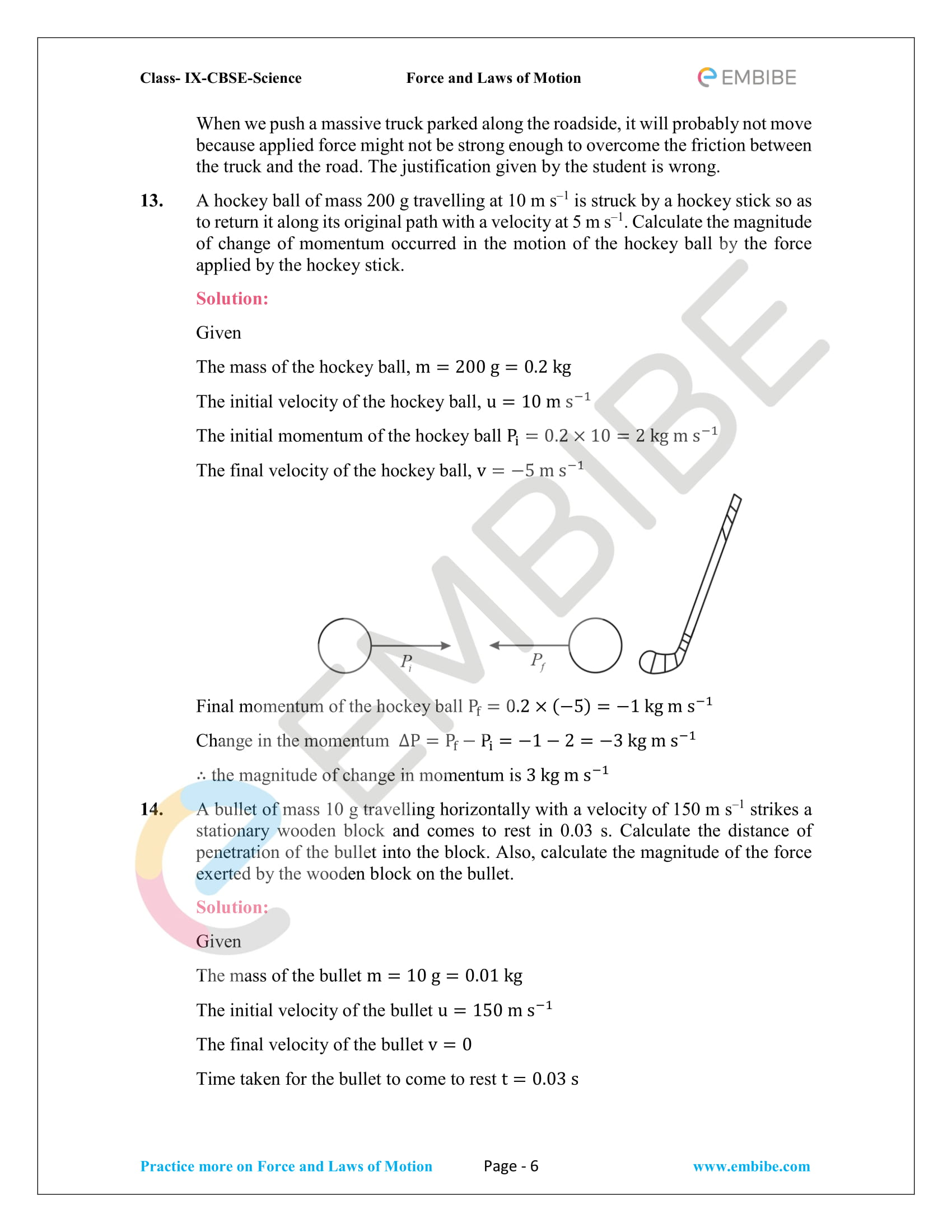 CBSE NCERT Solutions For Class 9 Science Chapter 9 – Force And Laws Of Motion - 6