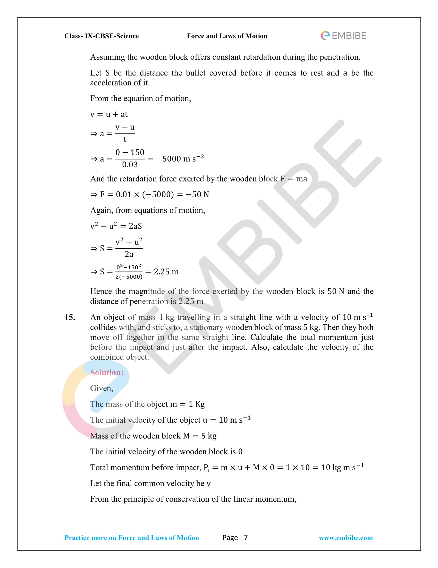 CBSE NCERT Solutions For Class 9 Science Chapter 9 – Force And Laws Of Motion - 7