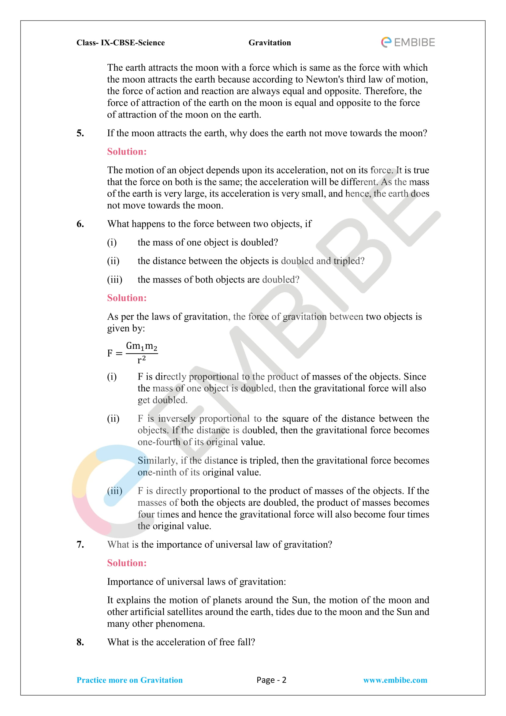 CBSE NCERT Solutions For Class 9 Science Chapter 10