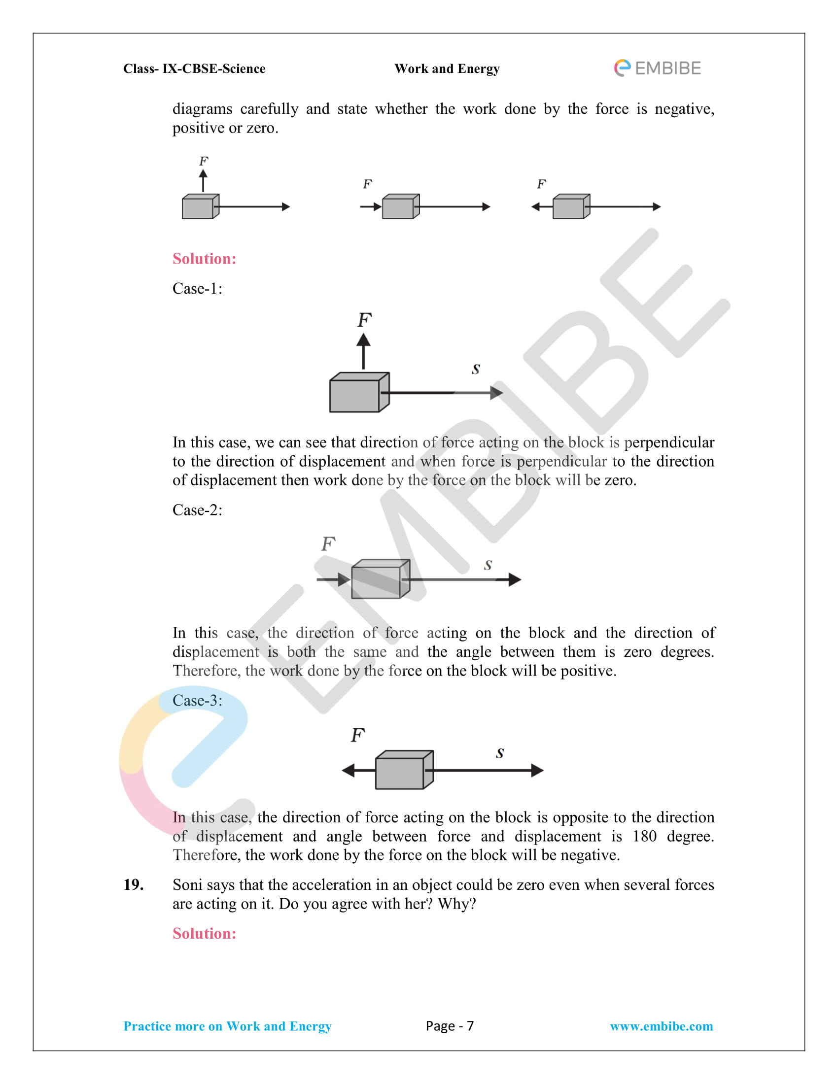 CBSE NCERT Solutions For Class 9 Science Chapter 11 – Work And Energy - 7