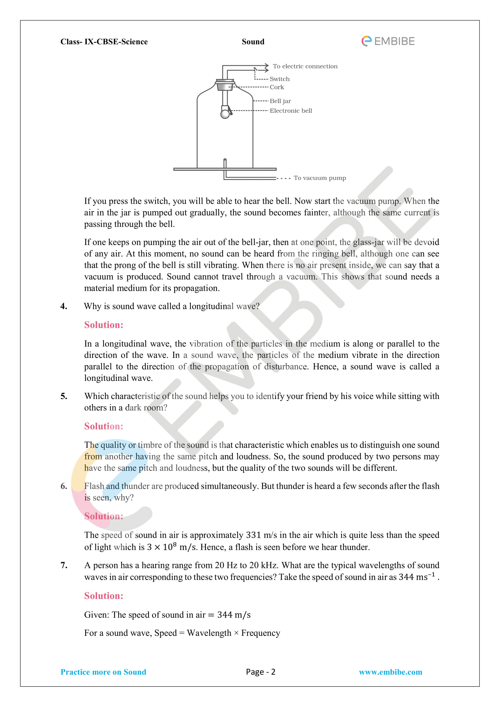CBSE NCERT Solutions For Class 9 Science Chapter 12 - Sound - 2