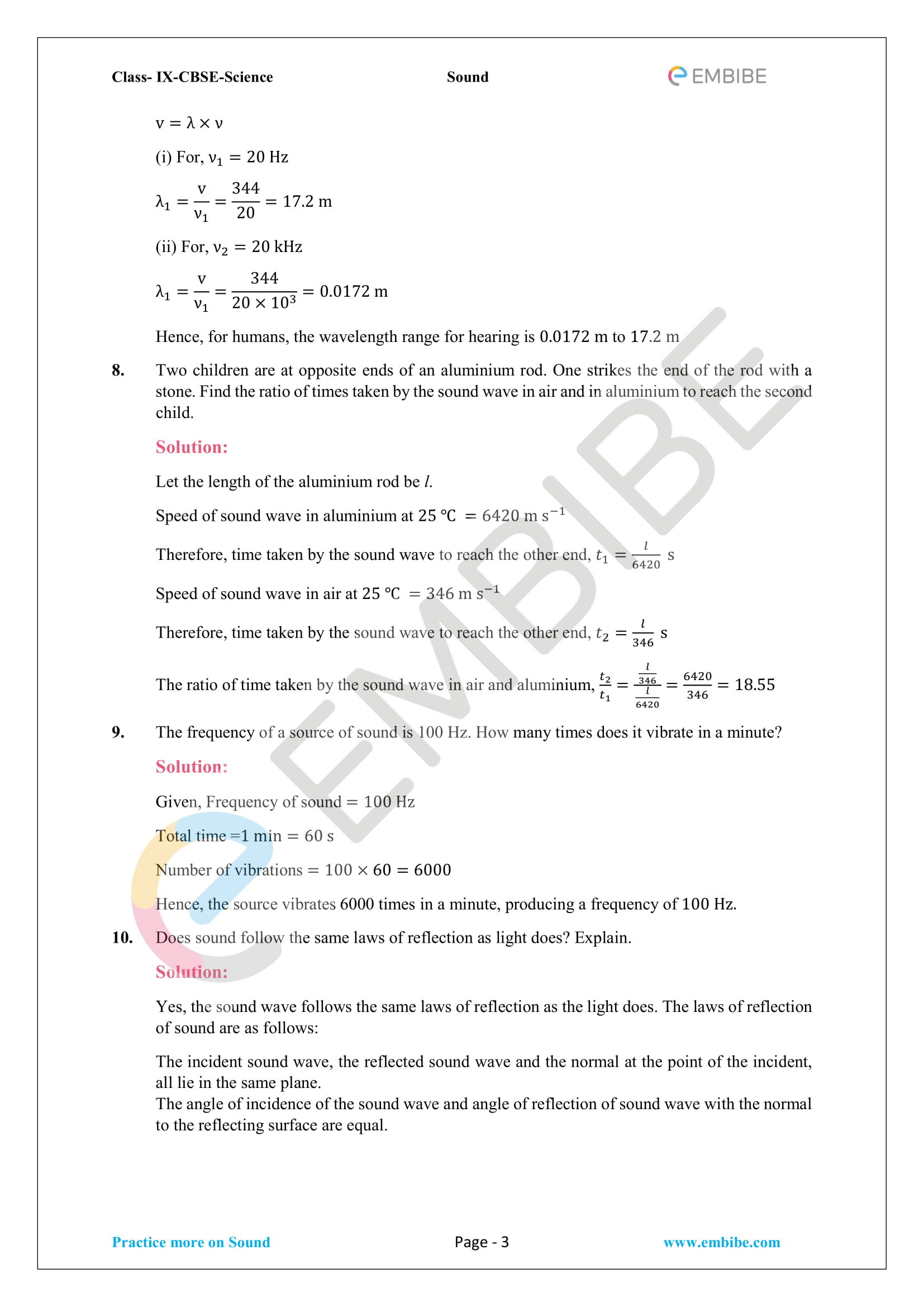 CBSE NCERT Solutions For Class 9 Science Chapter 12 - Sound - 3