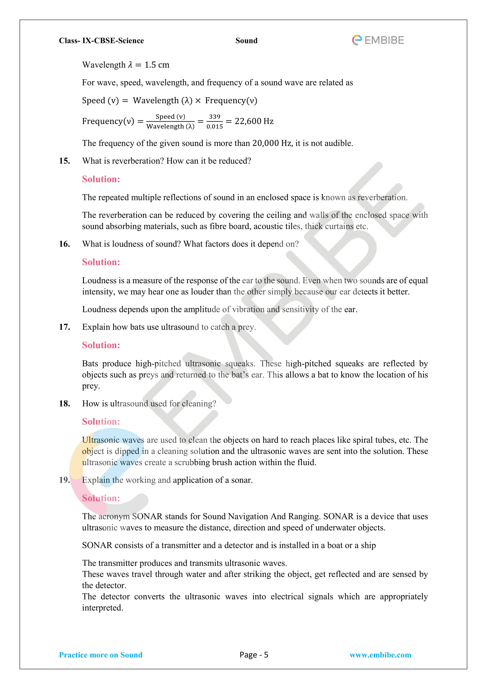 CBSE NCERT Solutions For Class 9 Science Chapter 12 - Sound - 5
