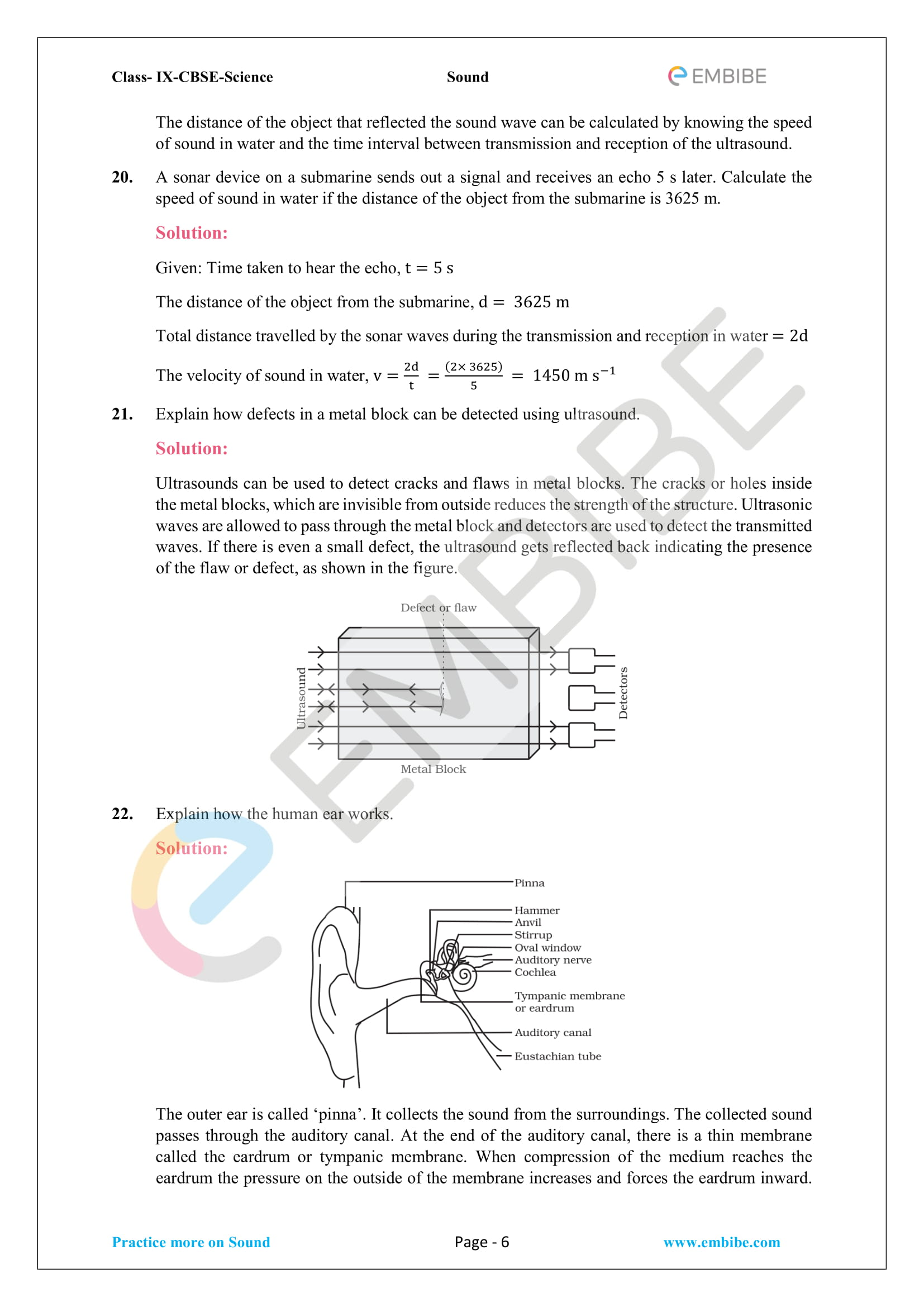 CBSE NCERT Solutions For Class 9 Science Chapter 12 - Sound - 6