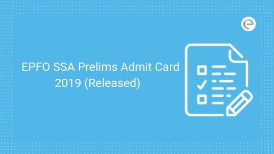 EPFO Admit Card
