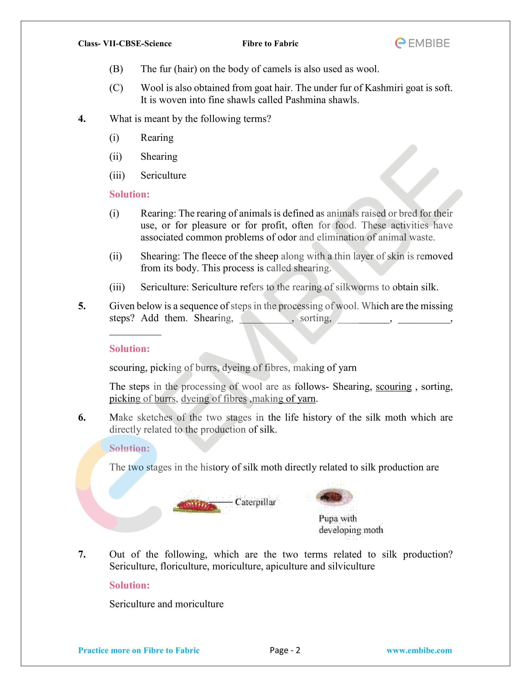 CBSE NCERT Solutions For Class 7 Science Chapter 3