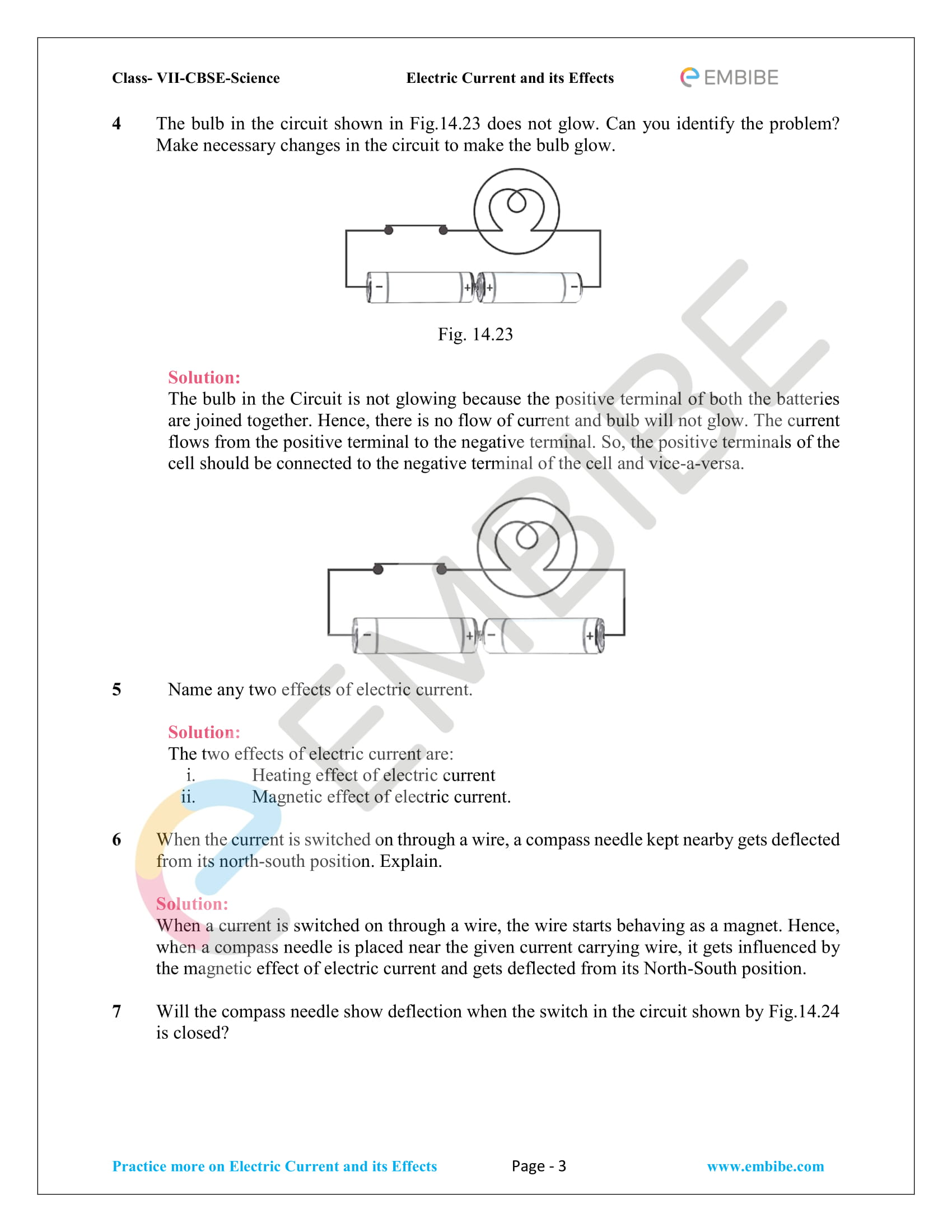 CBSE NCERT Solutions For Class 7 Science Chapter 14