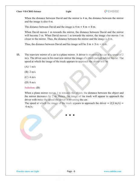 NCERT Solutions For Class 7 Science Chapter 15: Light (PDF Download)