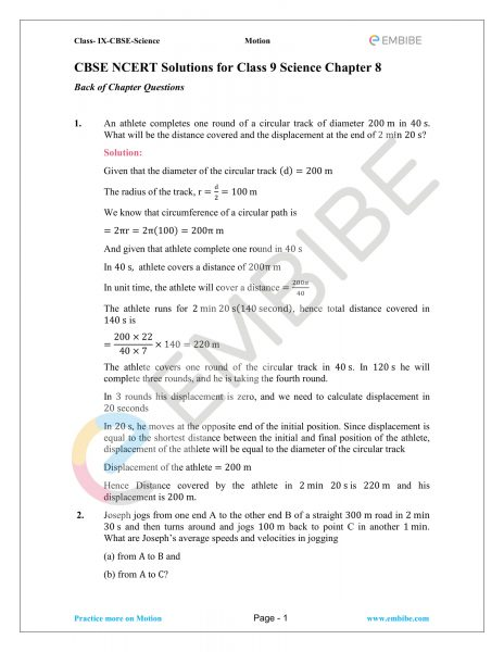 CBSE NCERT Solutions for Class 9 Science Chapter 8-01