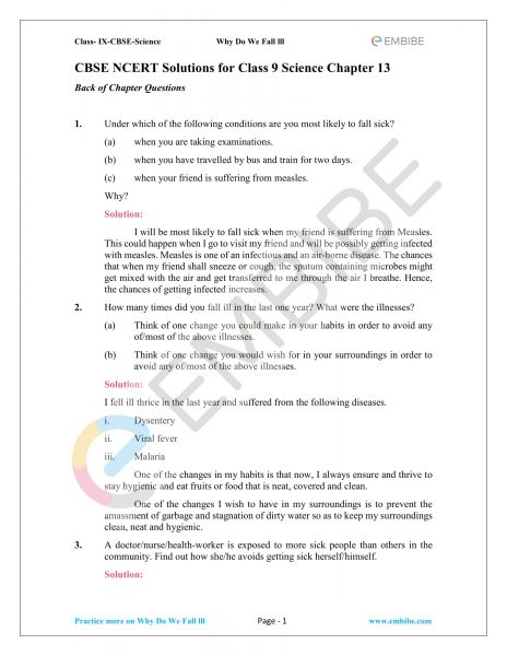CBSE NCERT Solutions for Class 9 Science Chapter 13-1