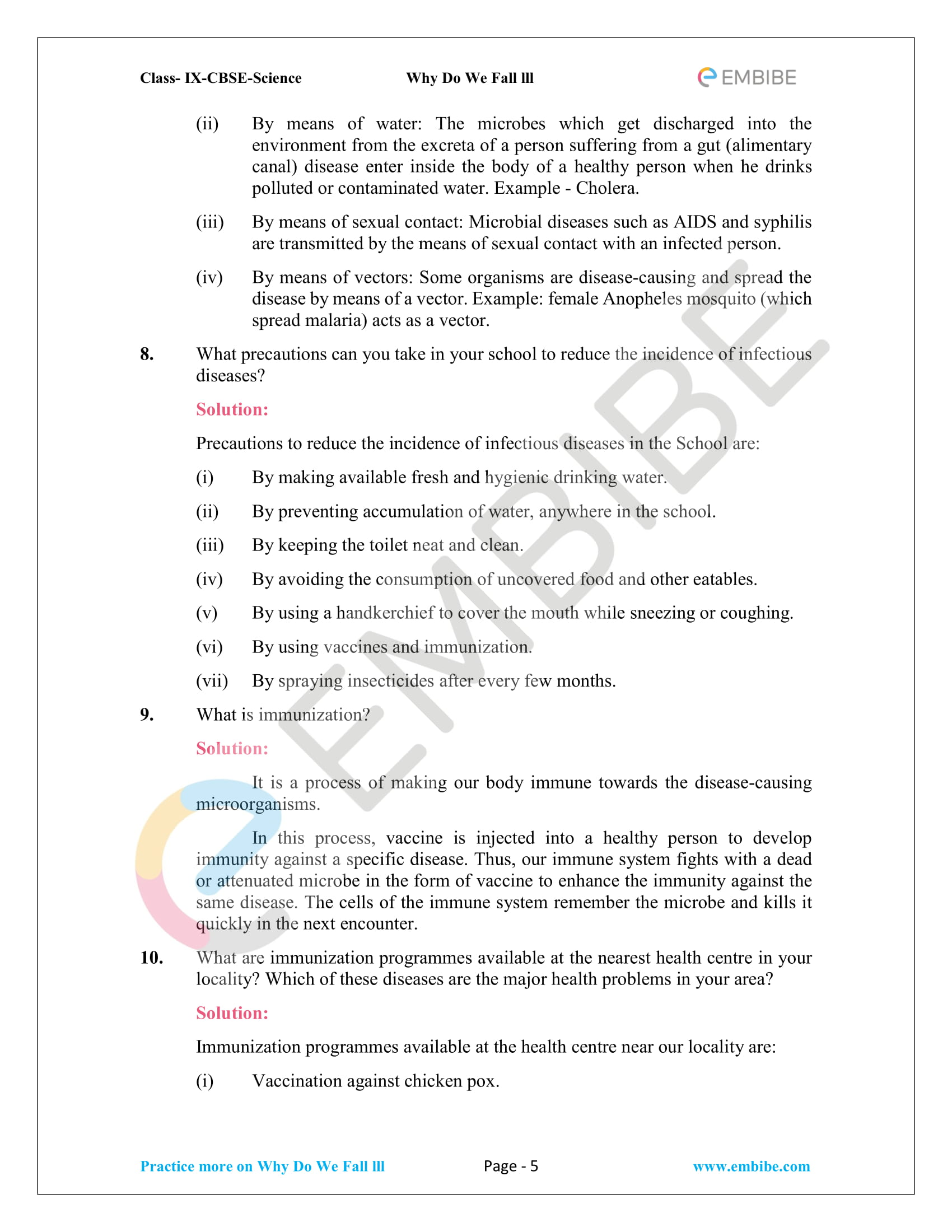 CBSE NCERT Solutions for Class 9 Science Chapter 13-5