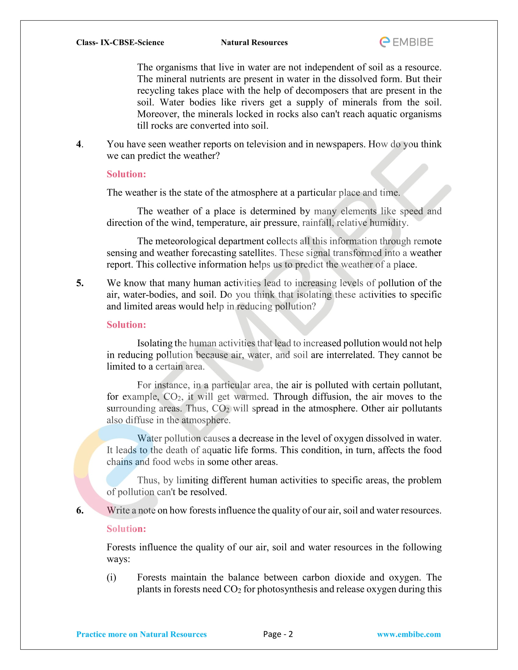 CBSE NCERT Solutions for Class 9 Science Chapter 14-2