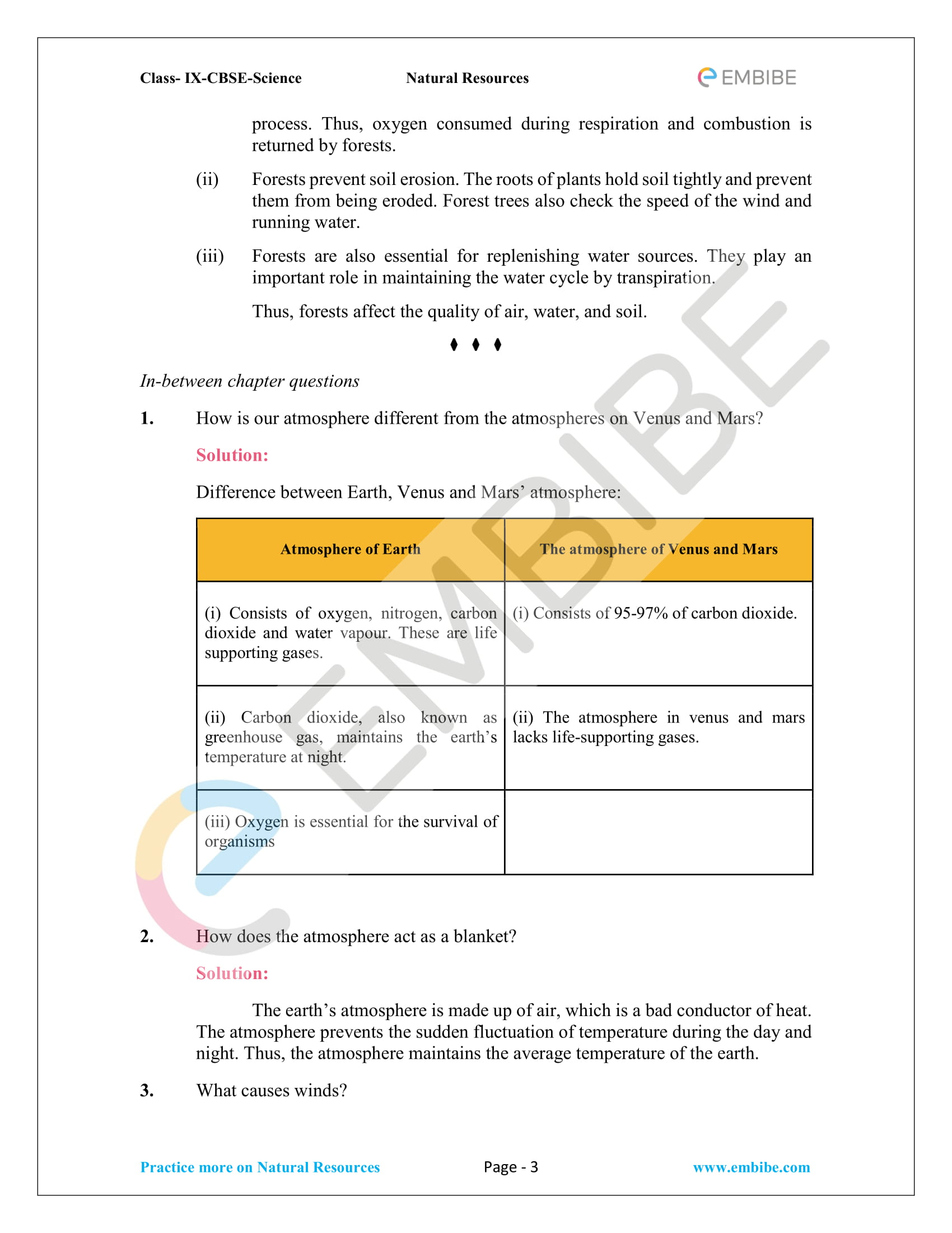 CBSE NCERT Solutions for Class 9 Science Chapter 14-3
