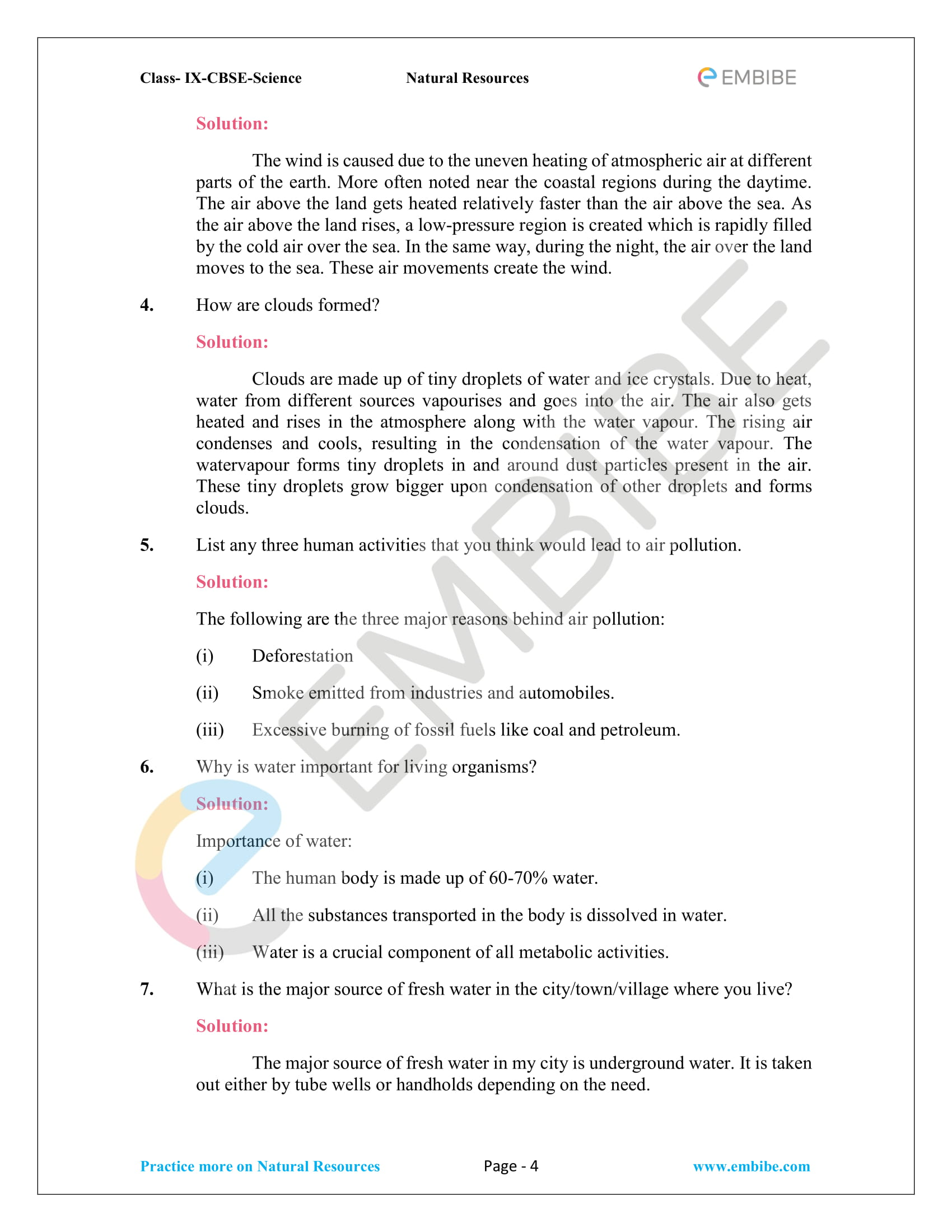 CBSE NCERT Solutions for Class 9 Science Chapter 14-4