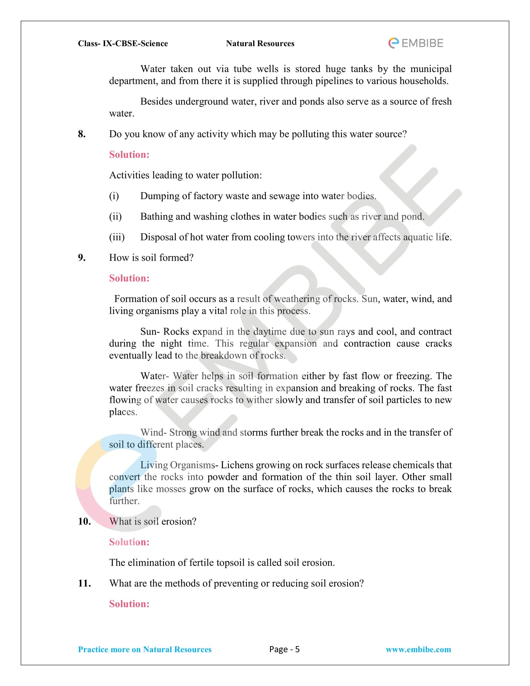 CBSE NCERT Solutions for Class 9 Science Chapter 14-5